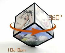 Rotating Battery Operated Magic Cube Revolving 3D Photo Frame CUSTOMIZED