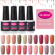 CLAVUZ Gel Color Nail Polish UV/LED Soak off PICK ANY 8 COLORS SET
