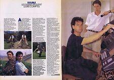 Coupure de presse Clipping 1986 Kurt Maloo & Félix Haug groupe Double  (2 pages)