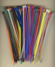 """100 7"""" Inch Long 50# Pound Nylon Cable Ties 10 COLORS Zip Tie Ty Wrap MADE USA"""