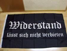 Fahnen Flagge Widerstand lässt sich nicht verbieten - 90 x 150 cm