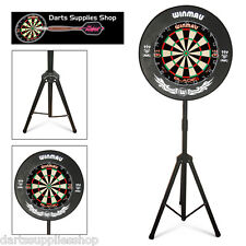 The Darts Caddy Kit, Portable Dartboard Stand with Winmau Blade 4 Dual Core