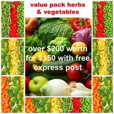 bulk  mixed vegetable seeds and herb seeds pack   84 packets over $200 value