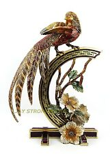 JAY STRONGWATER LARGE CHINOISERIE GOLDEN PHEASANT SWAROVSKI NEW MADE IN USA BOX