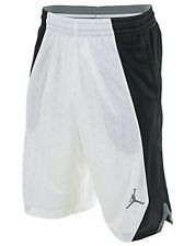 Jordan NIKE FLIGHT KNIT Basketball Shorts men SMALL NWT WHITE BLACK 820645