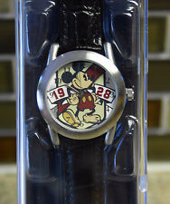 New Disney Parks MICKEY MOUSE Limited Release Black Strap Watch - Mens