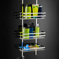 3 Tier Bath Shower Shelf Caddy Hanging Basket Bathroom Storage Rack Organiser US