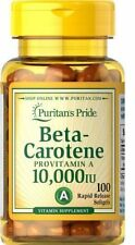 BETA CAROTENE     ****GIANT 100 SOFTGELS 10,000iu**** FREE POSTAGE