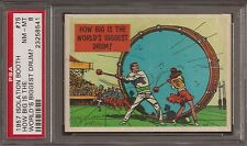 PSA 8 1957 TOPPS ISOLATION BOOTH #75 HOW BIG IS THE WORLD'S BIGGEST DRUM?