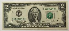 1976 $2 TWO DOLLARS ATLANTA FRN, UNCIRCULATED BANKNOTE.