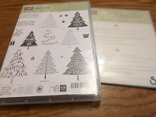 STAMPIN UP PEACEFUL PINES 17 PC PHOTOPOLYMER STAMP SET & PERFECT PINES FRAMELITS