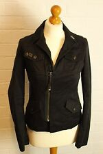 DIESEL Ladies Black Denim Style JACKET / COAT - Size Medium M