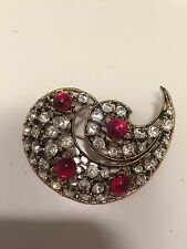 Estate Signed Weiss  Pin Brooch