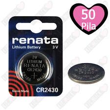 50 X Renata Batteria Cr2430 Litio 3v Pulsante Batteria Cr 2430 Pile a Bottone