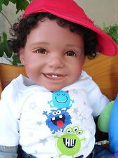 "Reborn Ethnic/Hispanic/biracial 22"" ToddlerBoyDoll Samuel ""Little Monster"""