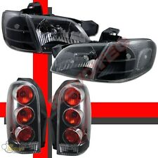 97-04 Chevy Venture /Silhouette Black Headlights Corner & Tail Lights Combo