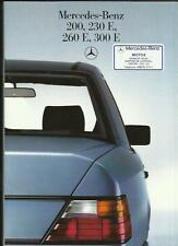 MERCEDES BENZ 200 230E 260E AND 300E SALES BROCHURE DEC.1985 FOR 1986 MODEL YEAR