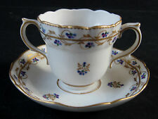 c.1785 Crown Derby Two Handled Cup & Saucer Pattern No.111