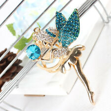 Ballet Girl Angel Wing Lovely Cute Pendant Crystal Purse Bag Key Chain Cute Gift