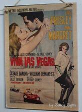 Viva Las Vegas Retro Movie Poster On Wooden Sign Elvis Presley Ann-Margret Film