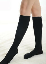 Lady Women Plain Over The Knee Black White Socks School Thigh High Stockings STF