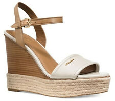 Coach Women's Elda Platform Wedge Sandal Chalk Size 8 M