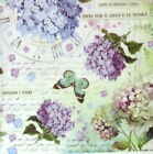 Ricepaper Decoupage paper, ScrapbookSheets Butterfly and Hydrangea Decopatch
