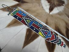 RARE BEAUTIFUL Ndebele Nyoga Beaded Wedding Bridal Veil South Africa #103