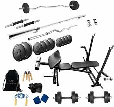 PROTONER  50 KGS + 7 in 1 bench weight lifting home gym fitness package