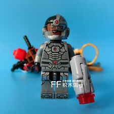 Cyborg Victor Stone Young Justice Super Heroes DIY Blocks Minifigures Toys Gifts