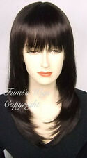 A strati Parrucca Liscia In Marrone Scuro Da Fumi Wigs UK