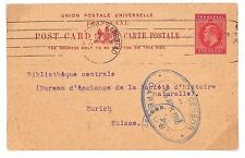 D56 1916 SOUTH AFRICA WW1 Transvaal KEVII Stationery Card *Double Censored* PC