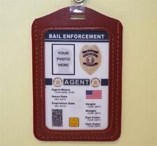 Bail Enforcement Agent ID Badge  CUSTOMIZE WITH YOUR PHOTO & INFO  Bounty Hunter