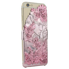 Apple iPhone 6S, 6 Luxury Case 3D Cover Angel Wing Lucky Star Pink