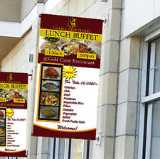 """Wall Mount Pole Banner Bracket 24"""" with 24"""" x 60"""" Banner Print"""