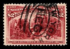 US.#242  USED $2. COLUMBIAN ISSUE OF 1893 - VF - $650.00 (ESP#6966)