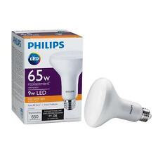 2-Pack Philips 65W Equiv. Soft White BR30 Dimmable LED Light Bulb 459578