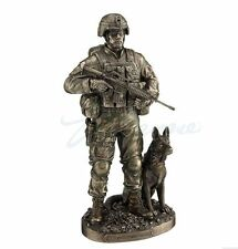 US Army Soldier And Dog Statue Honor, Courage, Commitment Figurine Statue HERO