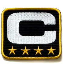 SUPER BOWL 50 CAROLINA PANTHERS FOUR-STAR 4-STAR CAPTAIN's JERSEY BLACK PATCH