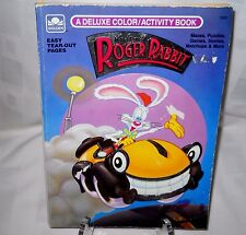 Vintage 1988 Who Framed Roger Rabbit Coloring and Activity Book Golden
