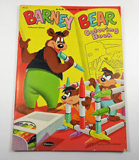 MGM Cartoons Barney Bear Color Book Vintage 1953 Unused Uncolored