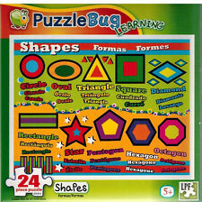Puzzle - Learning Shapes - Childrens - 24 pc  - NIB