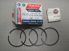 Yamaha 180 YCS1 CS1 piston ring set 4 rings +1.00mm o/s 164-11601-40 genuine NOS