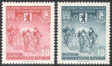 Alemania 1955 Ciclismo/8th carreras de Paz/Bicicletas/Bicicletas/Deporte/racing 2v Set (n25306)