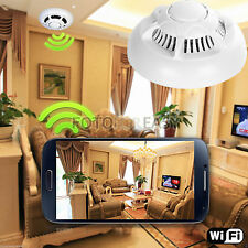 New Wireless UFO P2P Camera Wifi Spy Smoke Detector Motion Detect DVR Camcorder