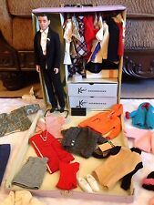 Vintage 1961 Ken Doll Complete Wardrobe Doll Case Accessories Lot