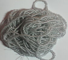 11/0 HANK SILVER LINED CRYSTAL ROUND HOLE CZECH GLASS SEED BEADS