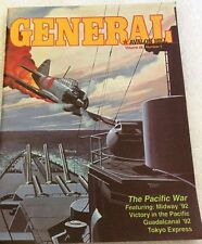 Avalon Hill General, vol 28-5, Midway cover, w/ Two Ocean War variant maps
