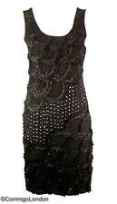 Con Mi Go London unique designer embellished Jersey dress - Black