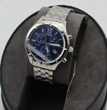 NEW AUTHENTIC CITIZEN SILVER WOMEN'S BLUE DIAL CHRONOGRAPH FA0020-54L WATCH
